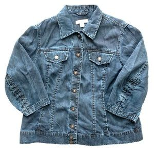 ⬇️$19 Coldwater Creek Denim Jacket 14 Petite Jean